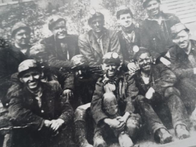 Huncoat miners in 1950