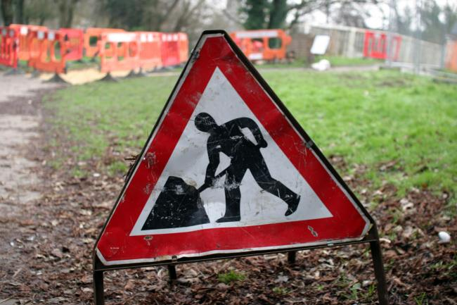 Library image of roadworks sign