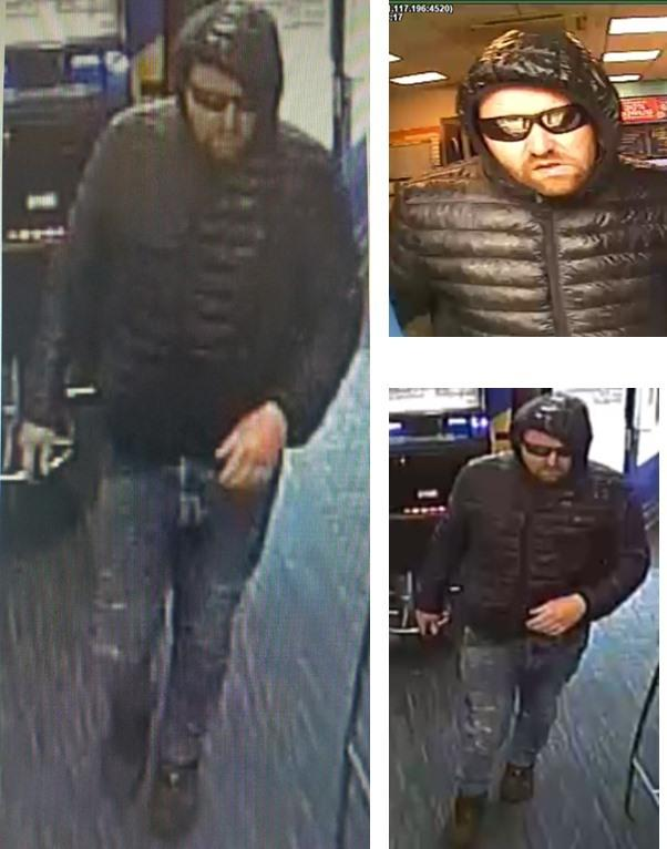 Police want to speak to this man in relation to an armed robbery in Great Harwood