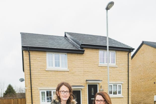 Ribble Valley Borough Council housing strategy officer Rachael Stott (left) and Rachel Richardson, neighbourhood specialist at affordable homes provider Onward Homes, at the Rose Gardens development in Clitheroe