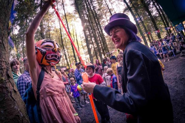 Art performers in the trees at Cloudspotting 2019 (Picture: Matt Collinge)