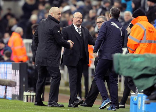 Sean Dyche and Rafael Benitez