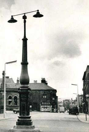 The Big Lamp stood at the top of Deardengate, Haslingden.
