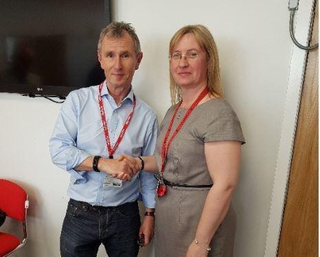 Nigel Evans MP with Rachael Gray
