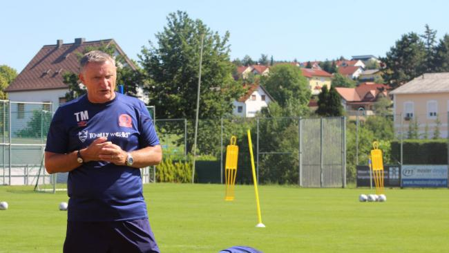 Tony Mowbray in Austria where Rovers are currently training. Picture: Blackburn Rovers Football Club
