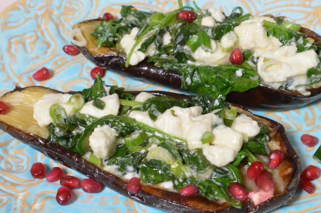 Nick Cullen's Middle Eastern inspired stuffed aubergines