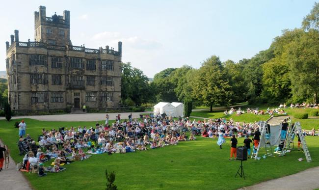 An outdoor theatre outside Gawthorpe Hall