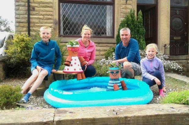 The winners of the Flowerpot Sculpture Trail were Mark and Rachel Longmire, and their children Thomas and Hannah
