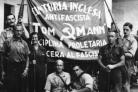 Some of the International Brigade recruits, pictured in Barcelona in September 1936