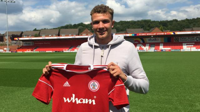 New signing Ben Barclay. Pic credit: Accrington Stanley