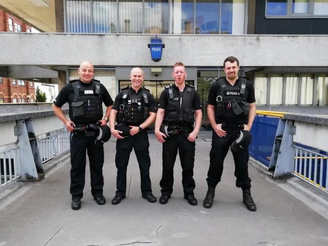 PC Carl Exley, PS Tony Burgess, PS Paul Harrison, PS Craig McCabe are part of the rural crime team