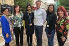 he new team of Engagement & Integration Officers – left to right are Faranisa Sharif, Lara Lowe, Hajra Sidat, Kelvin Sole, Mariyam Emam and Chrissie Spencer