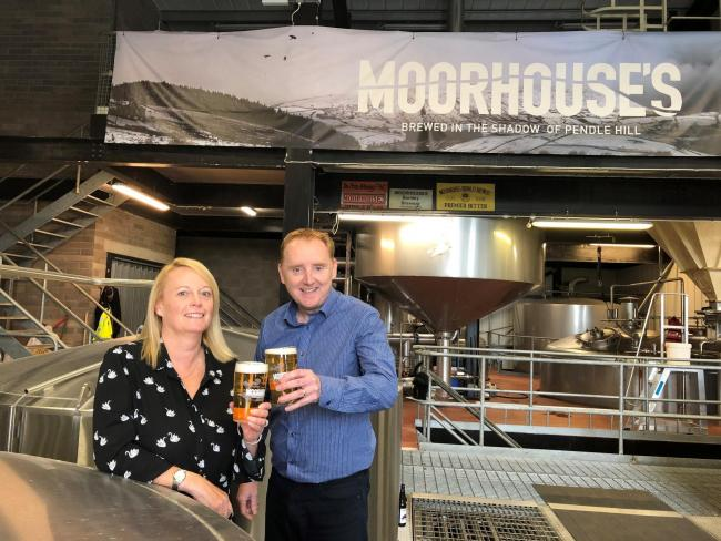 Lee Willians, of Moorhouse's, and Jackie Fisher, of PM+M