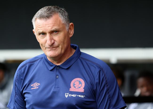 Rovers boss Tony Mowbray at Craven Cottage