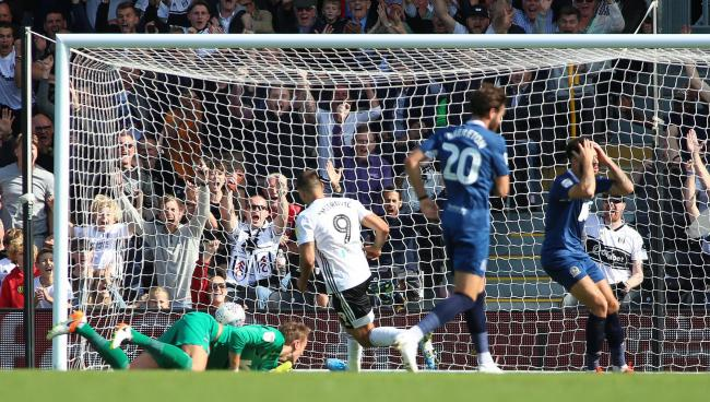 Mitrovic scored the second goal in Rovers' August defeat at Fulham