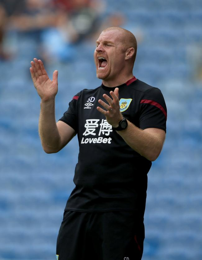 Burnley's manager Sean Dyche during the Pre-Season match at Turf Moor, Burnley. PRESS ASSOCIATION Photo. Picture date: Saturday August 3, 2019. Photo credit should read: Clint Hughes/PA Wire. RESTRICTIONS: EDITORIAL USE ONLY No use with unauthorised a