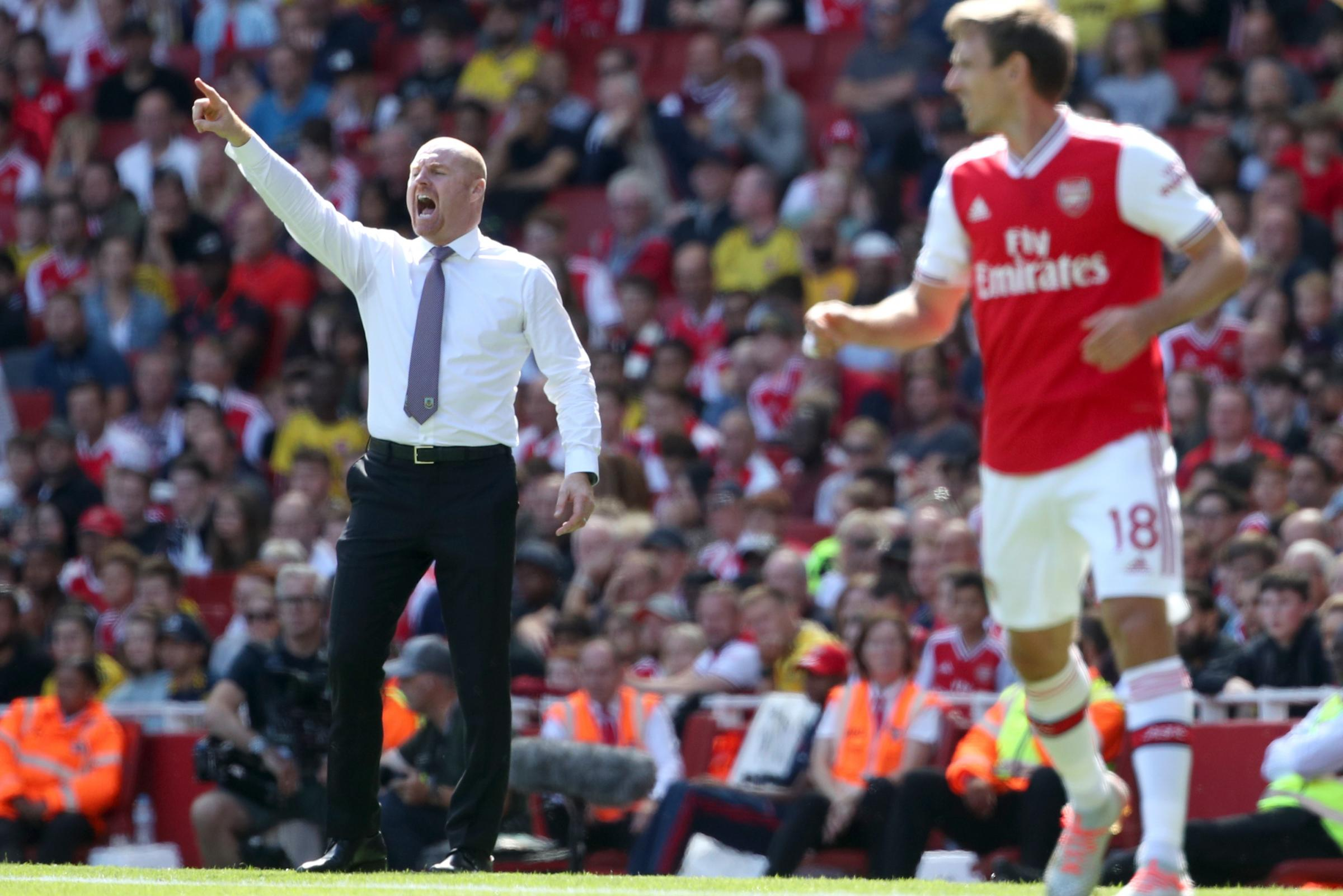Burnley boss Sean Dyche happy with display at Arsenal