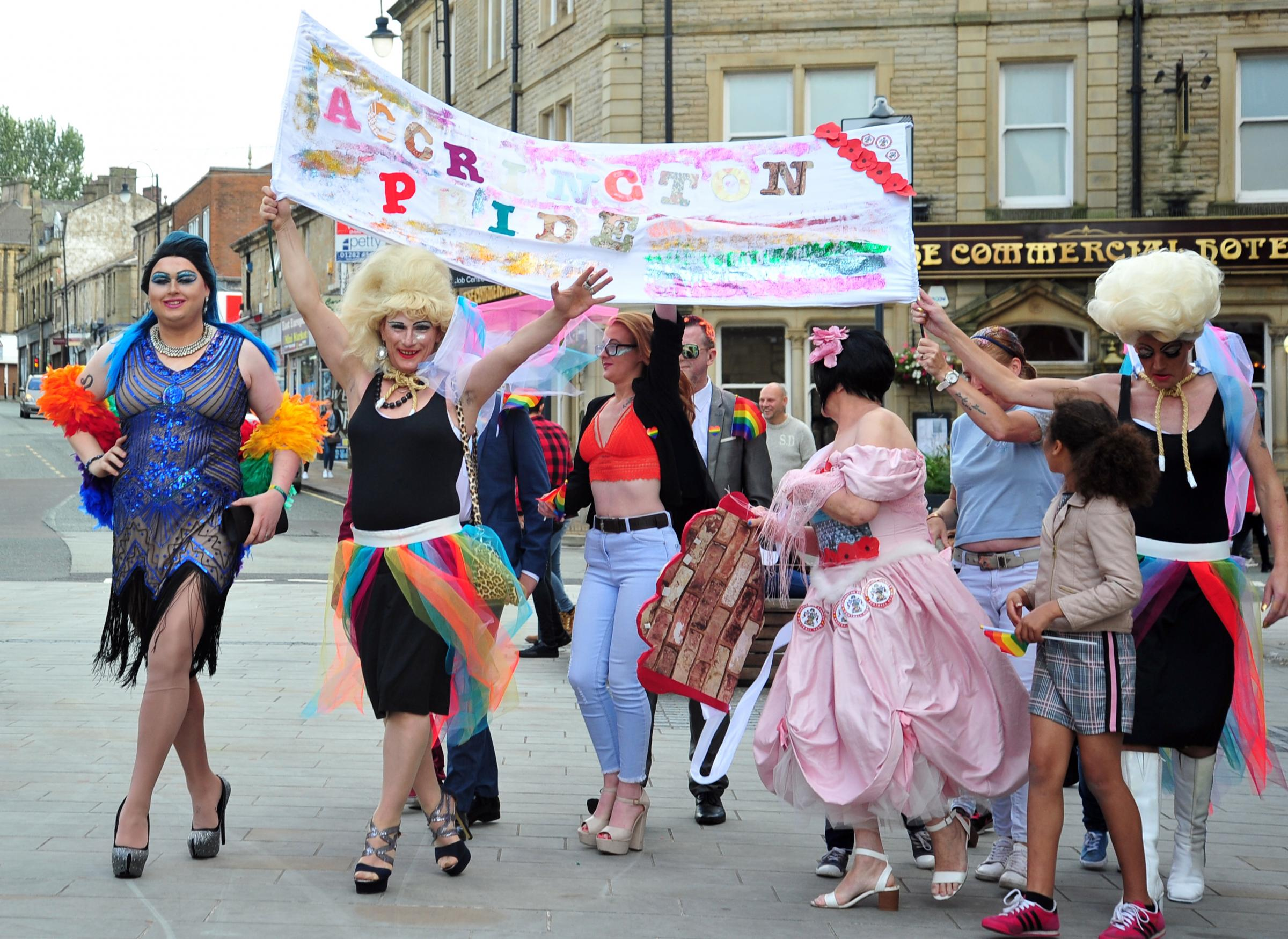 'We're here and we're proud' Town celebrates first ever pride event