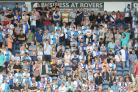 Rovers fans on the opening day against Charlton