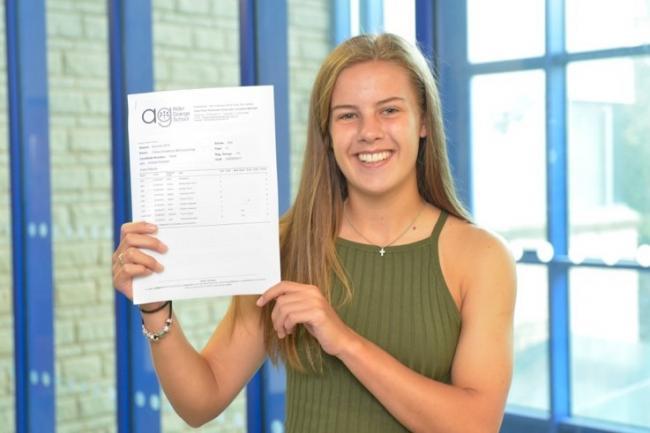 Budding footballer Chloe Broughton gains high GCSE marks