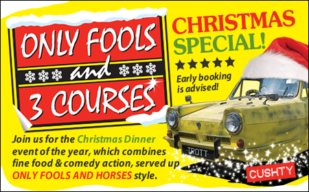 Only Fools and 3 Courses XMAS Special Dinner Event Lancaster
