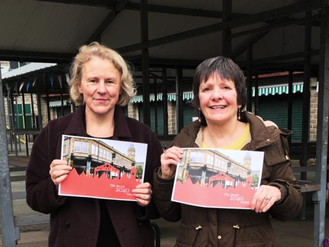 Rossendale Council leader Cllr Alyson Barnes and Cllr Jackie Oakes at the launch of the Bacup 2040 vision.