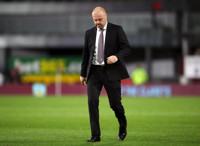 Sean Dyche leaves the field after Burnley's defeat to Sunderland