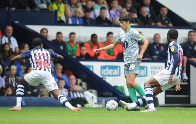 John Buckley came off the bench in Rovers' defeat at West Brom