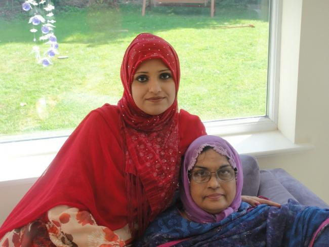 Sofia Kamran and her late mother Jabeen Akhtar