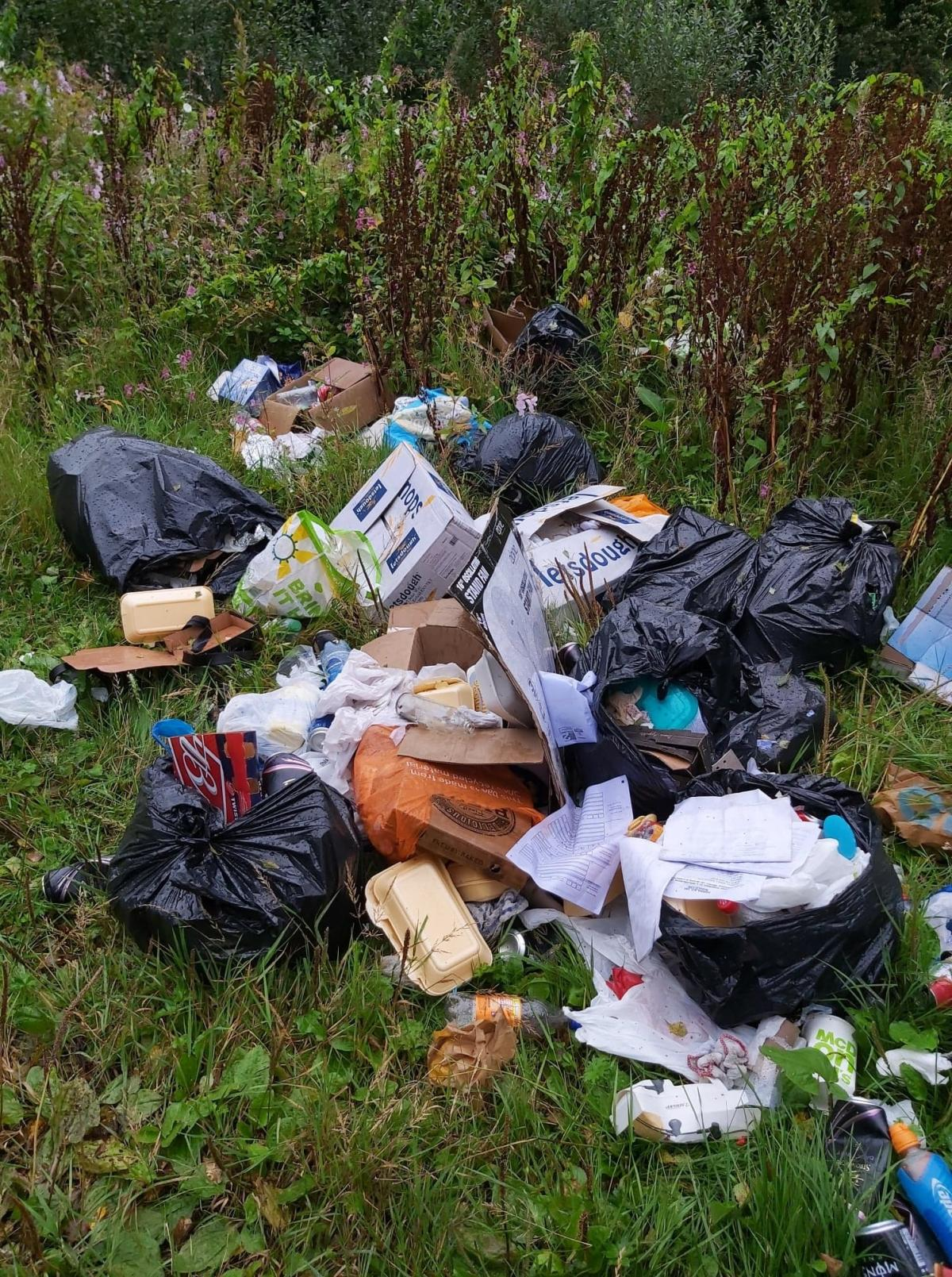Rubbish dumped at Darwen beauty spot causes outrage