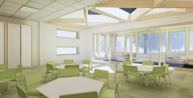 How the proposed classroom extension will look.