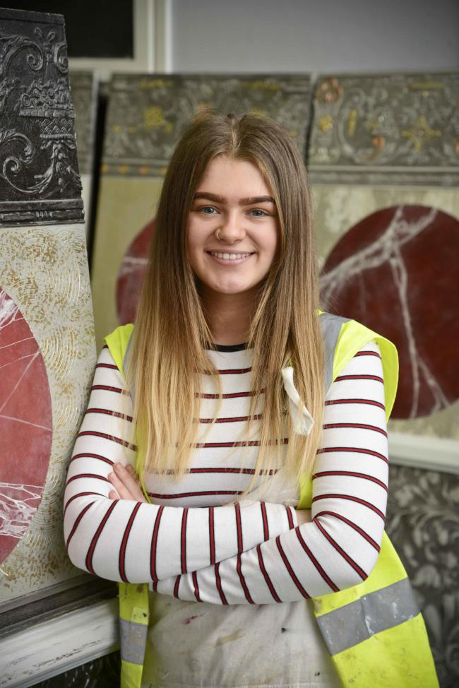 Megan Talbot, a painting and decorating apprentice