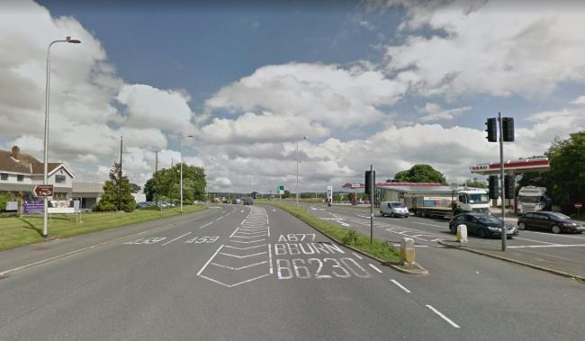 The crash happened on the A59 at Salmlesbury