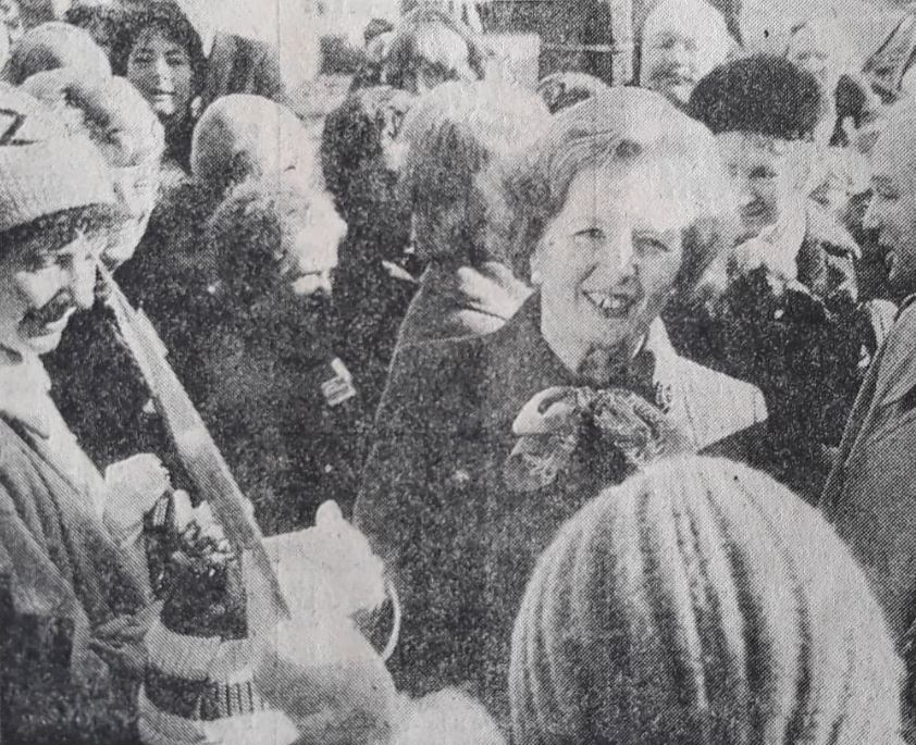 The day Margaret Thatcher came to Lancashire, just months before making history
