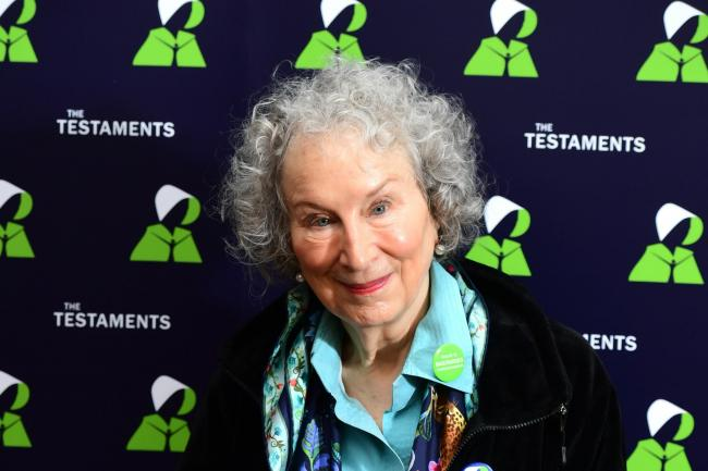 Margaret Atwood, during a press conference