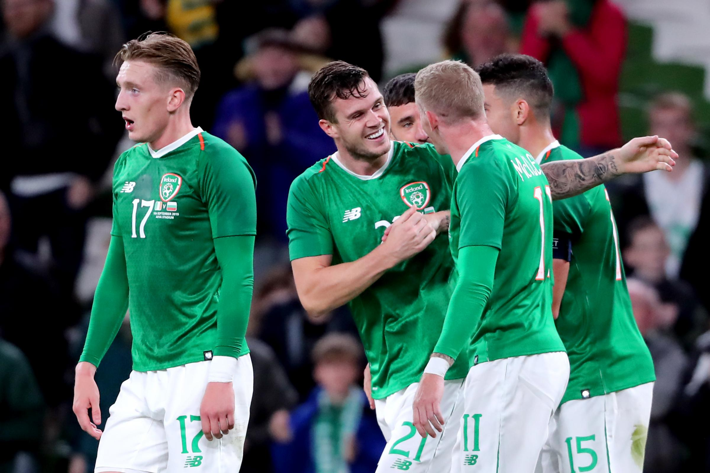 Kevin Long scored his first goal for the Republic of Ireland