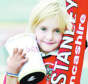 Clitheroe girl, 9, empties piggy bank for Accrington Stanley