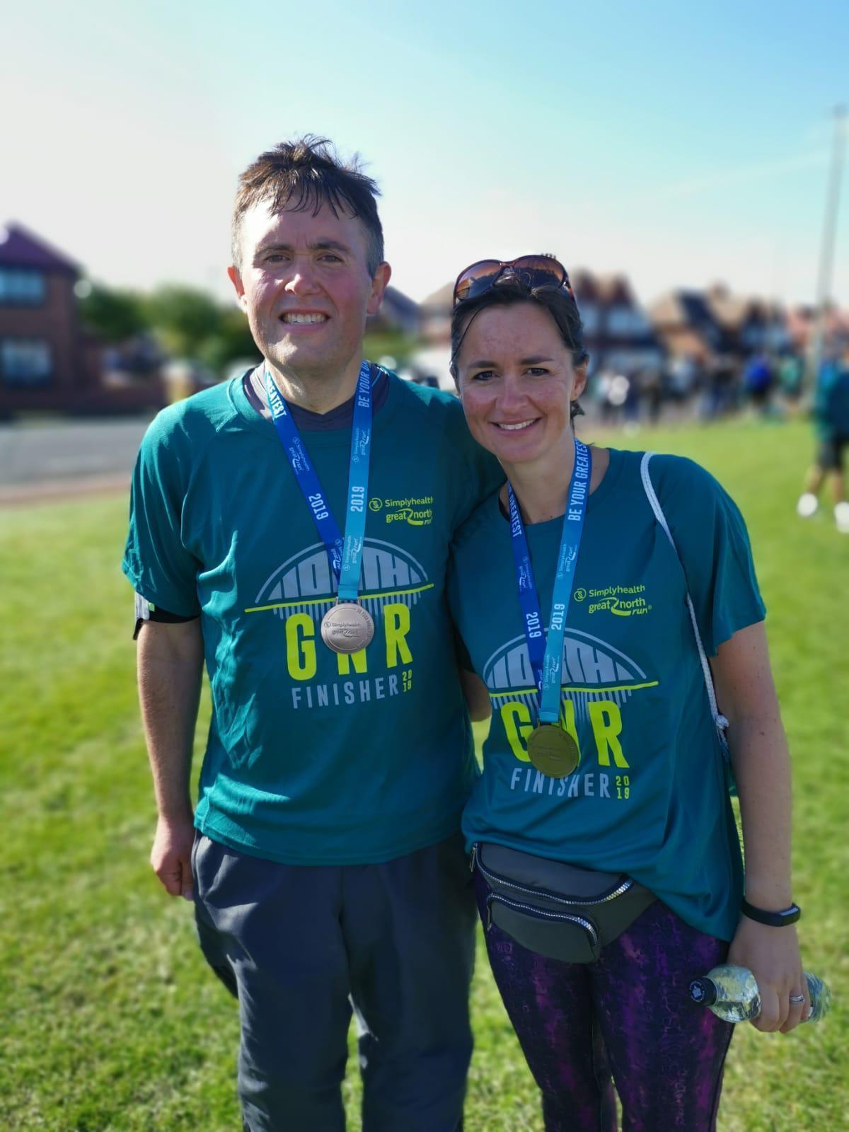 Super slimmer who lost 17st completes Great North Run half-marathon