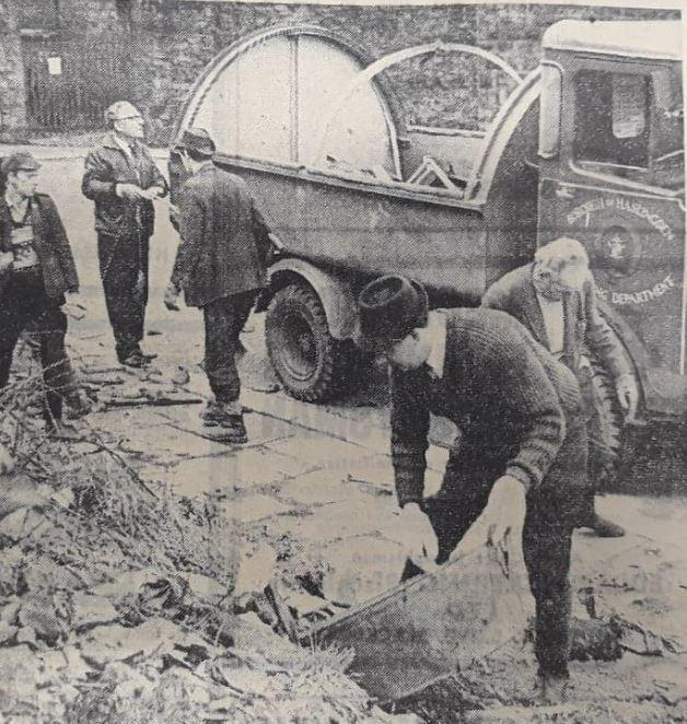 Volunteers, including schoolchildren, turned out in Haslingden to tackle the growing number of rubbish dumps in the town. The clean-up of the area known as the 'bad lands', took place in 1969, in a push to clear beauty spots such as the Grane Vall