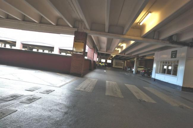 The Morrisons car park in Blackburn.