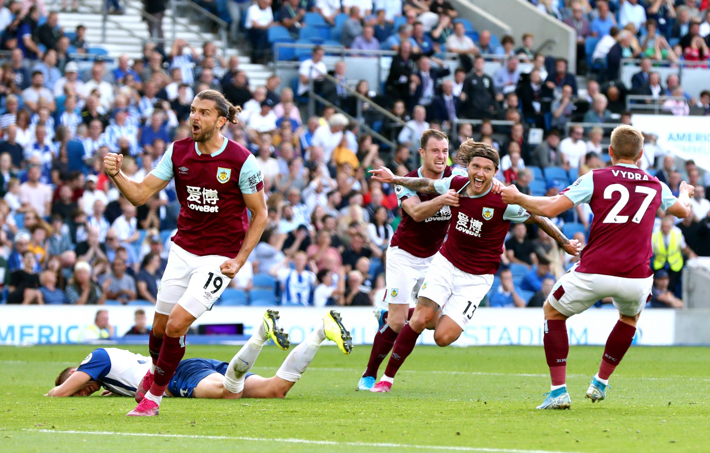 Burnley boss hails Jeff Hendrick after late Brighton leveller