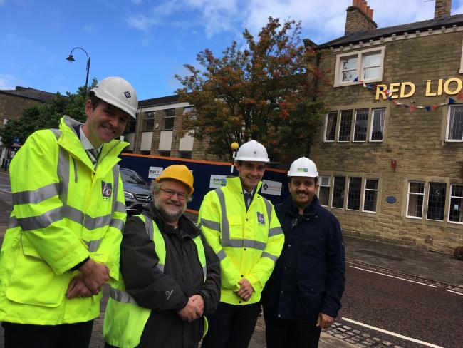 Demolition work has begun on the former Colne health centre