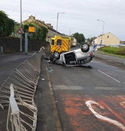 Scene of the crash in Accrington Road, Burnley.