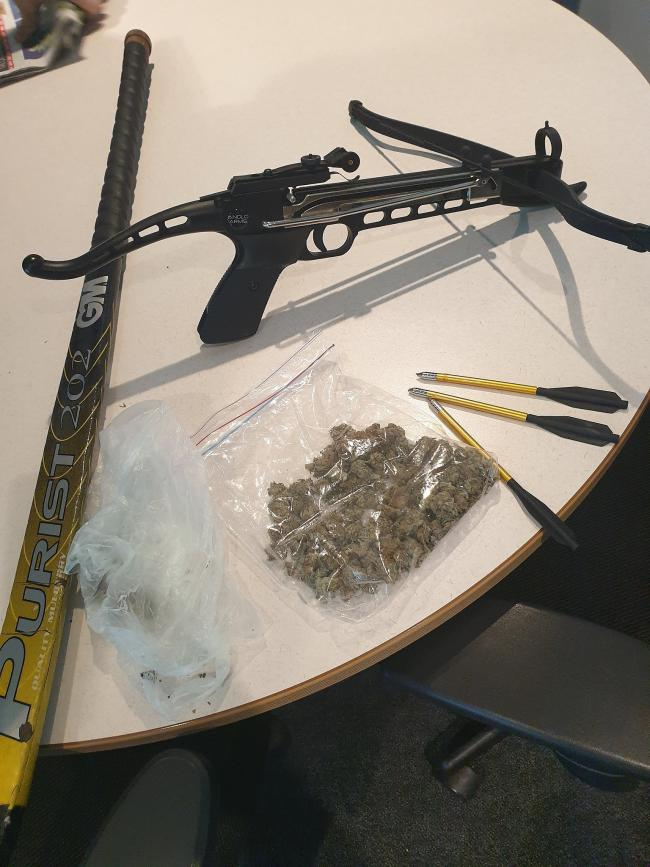 Items seized by the new police task force