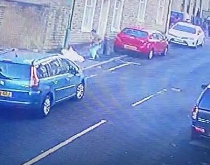 CCTV of the assault in Higher Antley Street, Accrington