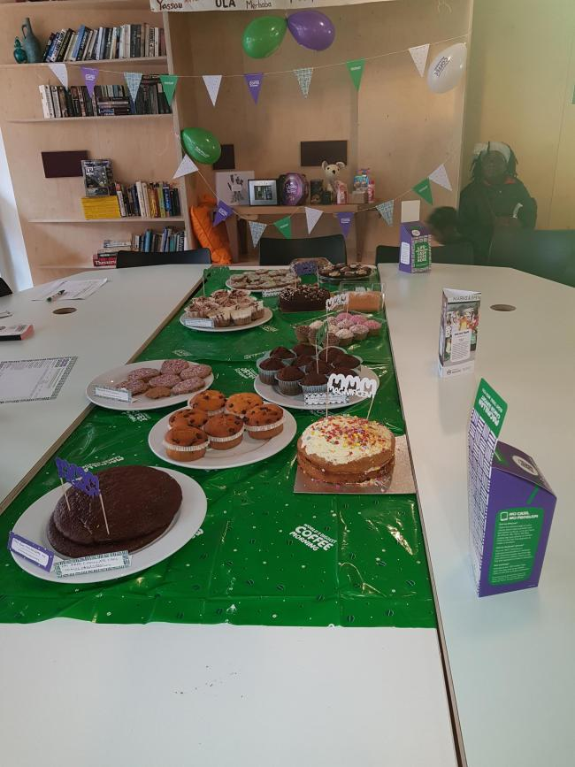 We held our coffee morning and raised more than 200 pounds.