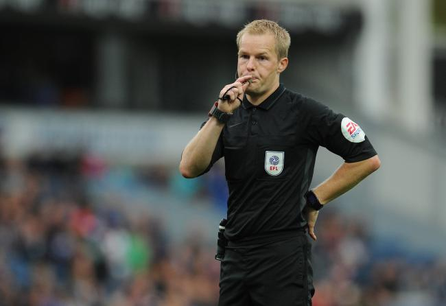 Referee Gavin Ward  took charge of Rovers' defeat to Luton
