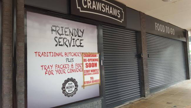 The butchers premises is set to reopen today in Burnley
