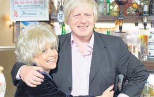 Lancashire Telegraph: POPPING IN TO THE LOCAL: London Mayor Boris Johnson will have to content himself with a pint of the 'usual' when he appears in EastEnders this autumn