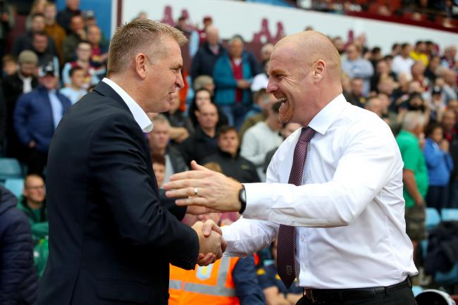 Dean Smith and Sean Dyche at Villa Park